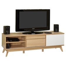 """Selena 56"""" TV Stand in Natural & White"""