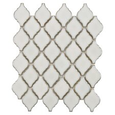Arabesque Porcelain Mosaic Tile Sheet in Selene