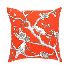 Vintage Blossom Throw Pillow in Persimmon
