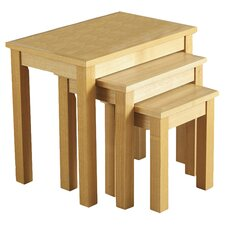Alexander 3 Piece Nest of Tables in Natural Oak