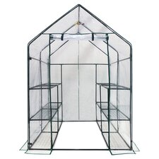Deluxe Portable Greenhouse in Dark Green