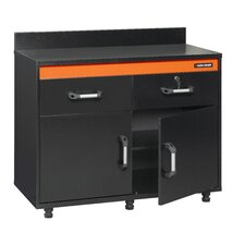 "Black & Decker 41.13"" Garage Workcenter Base Cabinet in Black"