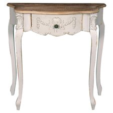 Shabby Elegance Gesso Console Table in White