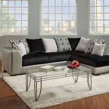 Sigma Sectional in Grey & Black