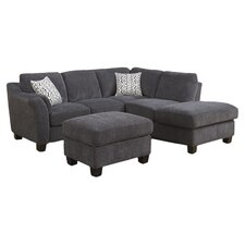 Clayton Sectional in Charcoal