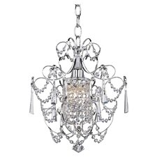 Princess 1 Light Crystal Chandelier in Chrome