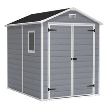 Manor Storage Shed in Grey & White