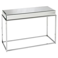 Kyla Mirrored Console Table in Chrome