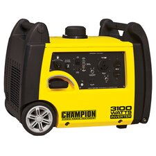 Champion Power 3100 Watt Gas Inverter Generator in Yellow & Black