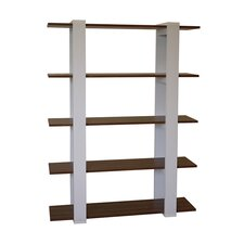 Aimee Bookcase in Walnut & White
