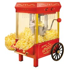 Old Fashioned Kettle Popcorn Maker in Red