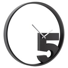 Take 5 Wall Clock in Black