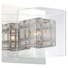 Jewel Box 1 Light Vanity Light in Chrome