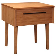 Sienna 1 Drawer Nightstand in Caramel
