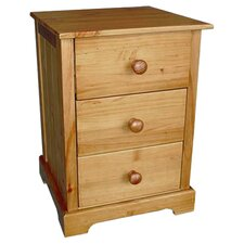Atlantic 3 Drawer Bedside Table in Antique Pine