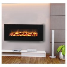Onyx Touchstone Wall Mount Electric Fireplace in Black