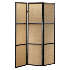 Haiku 3 Panel Room Divider in Black & Khaki