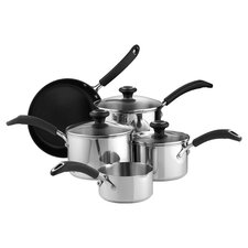 Create 8 Piece Nonstick Cookware Set in Silver