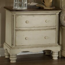 Wilshire 2 Drawer Nightstand in Antique White