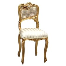 Gilt Side Chair in Cream & Gold