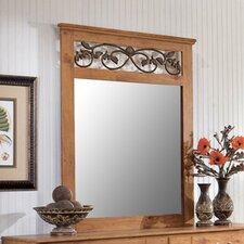Atlee Rectangular Dresser Mirror in Pine