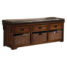Upland Entryway Storage Bench in Brown