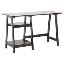 Baxton Studio Modern Writing Desk in Dark Espresso Brown