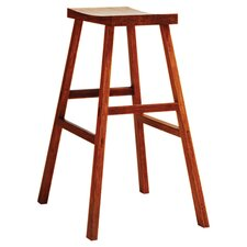 "Holly 30"" Bar Stool in Brown"