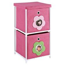 Dancing Daisy Toy Storage Bin Organizer in Pink