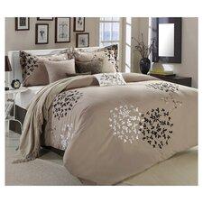 Cheila 8 Piece Comforter Set in Tan