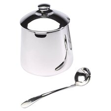 Frieling 9.6 oz. Sugar Bowl with Spoon in Polished Stainless Steel