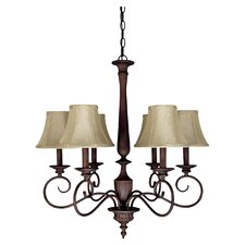 Hammond 6 Light Chandelier in Mediterranean Bronze