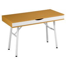 Zip Writing Desk in Beech & White