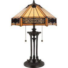 Indus Tiffany Table Lamp in Vintage Bronze