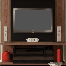 LES Entertainment Center in Mocha & Black