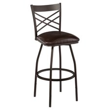 Salem Adjustable Barstool in Hammered Bronze