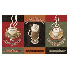 New Wave Kitchen Caffe Latte Novelty Rug Set