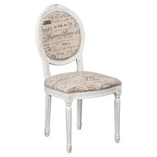 Louis Side Chair in White
