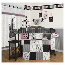 Flower and Dot 13 Piece Crib Bedding Set