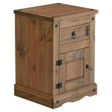 Corona 1 Drawer Bedside Table in Dark Pine