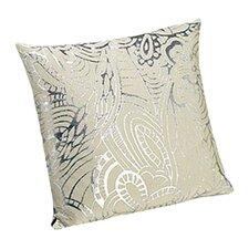 Khal Throw Pillow in Silver