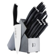 International Silvercap 14 Piece Knife Block Set in Silver