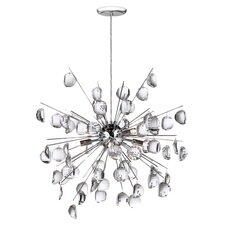 Crystal Wafers 8 Light Pendant in Chrome