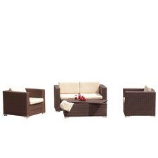 Asante 4 Piece Deep Seating Group with Cushions