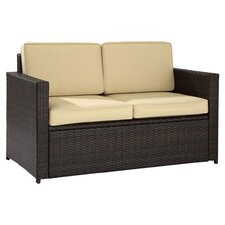 Loon Harbor Loveseat in Espresso with Cushions