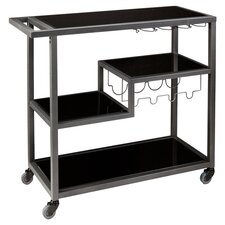 Zephs Serving Cart in Gunmetal Grey