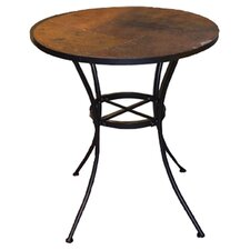 Round Bistro Table with Slate Top