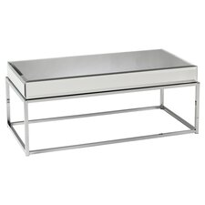 Kyla Mirrored Coffee Table in Chrome