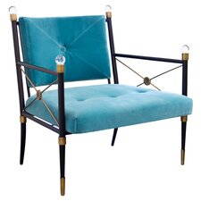 Rider Lounge Chair in Blue & Black
