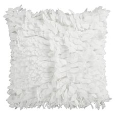 Ruffle & Frill Throw Pillow in Ivory